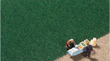 AUHAGEN 75602 — Трава тёмно-зелёная (флок ~2,5мм, 75 г), 1:35—1:120, Сделано в Германии