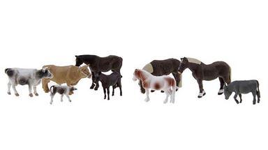 NOCH 15713 — Животные на ферме (9 фигурок), 1:87