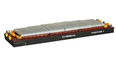 KIBRI 38524 — Баржа для перевозки контейнеров или сыпучих грузов, 1:87