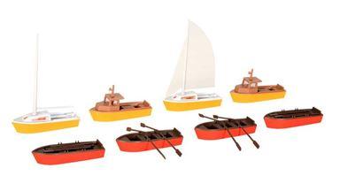 KIBRI 39159 — Лодки, моторные лодки и парусники (8 шт), 1:87