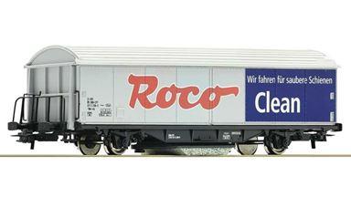 ROCO 46400 — Товарный вагон «ROCO CLEAN» с устройством для очистки рельс, H0, V, SBB-CFF