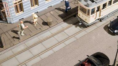 AUHAGEN 41617 — Набор для создания городских трамвайных путей, 1:87