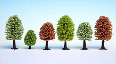 NOCH 26806 — Весенние деревья (25 шт., ≈50—90мм), 1:87—1:120