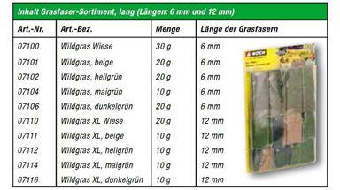 NOCH 07071 — Трава в ассортименте (флок ~6 и 12мм), 1:35—1:100 Сделано в ЕС