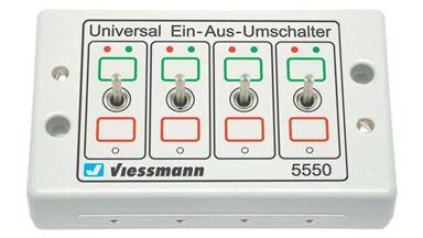 VIESSMANN 5550 — Блок переключателей универсальный (4 тумблера)
