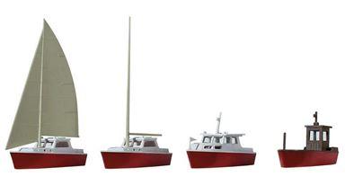 KIBRI 39160 — Катера и яхты (4 шт.), 1:87