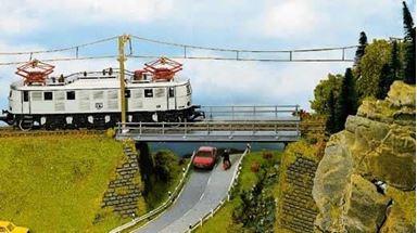 NOCH 21340 — Железнодорожный однопутный стальной мост, 1:87
