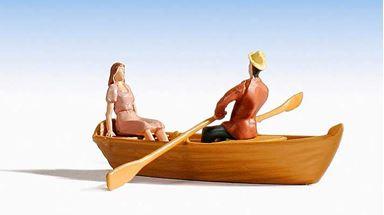 NOCH 16800 — Лодка и 2 фигурки, 1:87