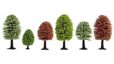 NOCH 26906 — Весенние деревья (10 шт., ~50—90мм), 1:72—1:120