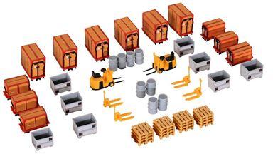 KIBRI 38647 — Поддоны, тележки, контейнеры, бочки и др., 1:87