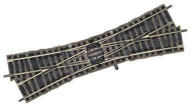 FLEISCHMANN 6165 — Двойная правая перекрестная стрелка 200мм 18°, H0, PROFI-GLEIS