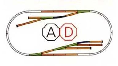 PIKO 55330 — Набор развития рельсового пути A-Gleis «D», H0