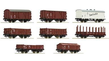 ROCO 67127 — Набор грузовых вагонов (8 шт.), H0, III, DR