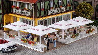 VOLLMER 45138 — Навесы для уличных кафе, комплект 4 шт., 1:87