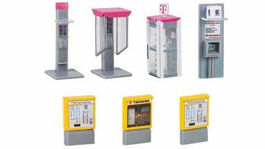 FALLER 180347 — Кассы, банкоматы, телефонные будки «Deutsche Telekom», 1:87, 1986-2006