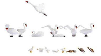 NOCH 15774 — Лебеди и утки (17 фигурок), 1:87