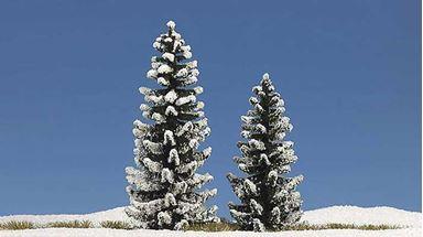 BUSCH 6152 — Ели в снегу (2 шт., 90 и 120мм), 1:87