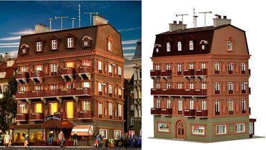 VOLLMER 43782 — Городская гостиница «City-Hotel» (внутреннее освещение), 1:87