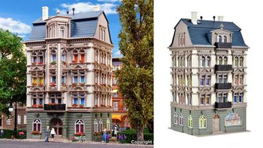 VOLLMER 43815 — Жилой дом в парке «Schlossallee 5», 1:87