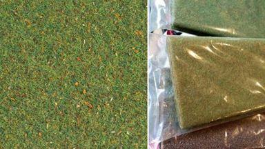 AUHAGEN 75212 — Трава «Зелёный луг» ~2,5мм (лист 750×1000мм ≈0,75 м²), 1:18–1:120