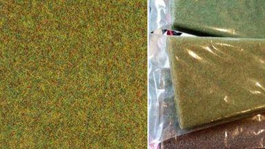 AUHAGEN 75213 — Трава «Светло-зелёный луг» ~2,5мм (лист 750×1000мм ≈0,75 м²), 1:18—1:120
