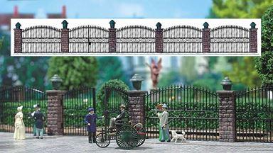 BUSCH 6016 — Кованная ограда и ворота (~650мм), 1:72—1:100