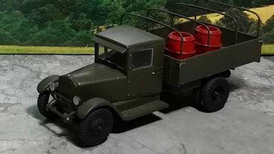 RUSAM-ZIS-5-10-001 — Грузовой автомобиль ЗиС-5 бортовой (в кузове 2 бочки), 1:87, 1933—1958, СССР
