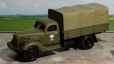 RUSAM-ZIL-164-15-903 — Грузовой автомобиль ЗИЛ 164 бортовой с тентом, 1:87, 1957—1964, Польша