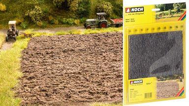 NOCH 07450 — Пашня ~8мм (лист 210×190мм ≈ 0,04 м²) и 10 пучков травы, 1:87—1:120