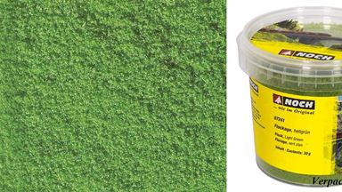 NOCH 07241 — Трава (флокаж) ярко-зелёная (~30 г), 1:22—1:220