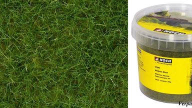 NOCH 07092 — Трава светло-зелёная (флок ~6мм, ~100 г), 1:35—1:200