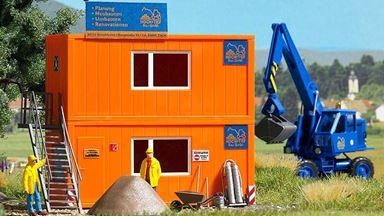 BUSCH 1036 — Два строительных контейнера (бытовки), 1:87