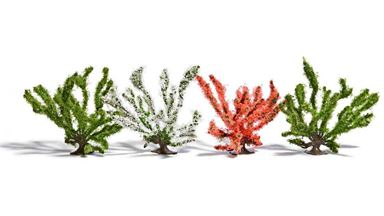 BUSCH 6064 — Цветущие кустарники ~50мм (4 куста), 1:72—1:100