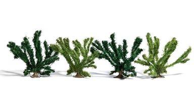 BUSCH 6065 — Летние кустарники ~50мм (4 куста), 1:72—1:100