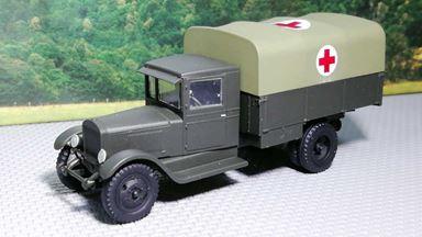 RUSAM-ZIS-5-15-003 — Грузовой автомобиль ЗиС-5 бортовой санитарный (крытый), 1:87, 1933—1958, СССР