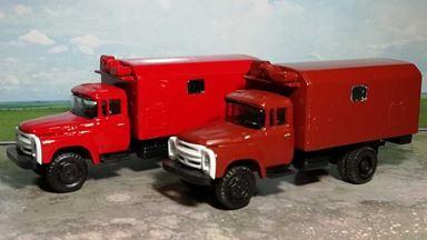RUSAM-ZIL-130-50-200 — Автомобиль технической помощи ЗИЛ 130 (красный) (1 шт.), 1:87, 1963—1986, СССР