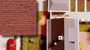 BUSCH 7039 — Деревянные настилы (картон ~210×148мм, 2 шт.), 1:72—1:120