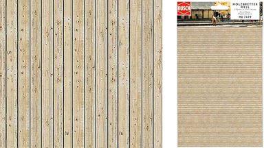 BUSCH 7419 — Деревянные доски (картон, ~210×148мм, 2 шт.), 1:72—1:120