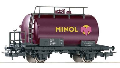 PIKO 57754 — Цистерна двухосная «MINOL», H0, IV, DR