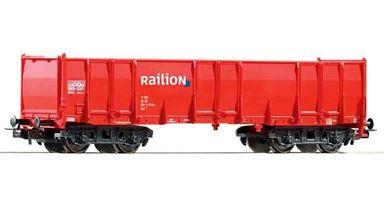 PIKO 57750 — Полувагон четырехосный Eaos «RAILION», H0, V, DB AG