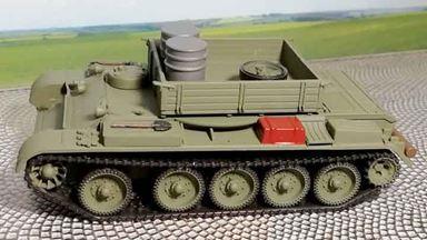 RUSAM-T-54-100 — Тягач на базе танка Т-54 с серыми бочками, 1:87, 1948—1974, СССР