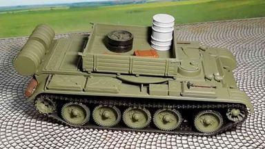 RUSAM-T-54-110 — Тягач на базе танка Т-54 с белой бочкой, 1:87, 1948—1974, СССР