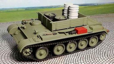 RUSAM-T-54-120 — Тягач на базе танка Т-54 с белыми бочками, 1:87, 1948—1974, СССР