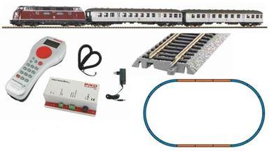 PIKO 59020 — Цифровой стартовый набор «Пассажирский состав с тепловозом BR 220», H0, IV, DB, PIKO SmartControl®