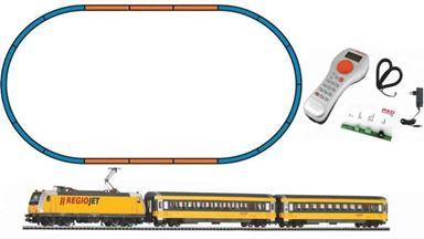 PIKO 59021 — Цифровой стартовый набор «Пассажирский состав с электровозом BR 386», H0, VI, Regiojet, PIKO SmartControl®