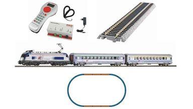 PIKO 59024 — Цифровой стартовый набор «Пассажирский состав с электровозом Taurus», H0, V, PKP, PIKO SmartControl®