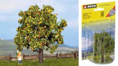 NOCH 21560 — Яблоня ~75мм с яблоками, 1:87—1:160