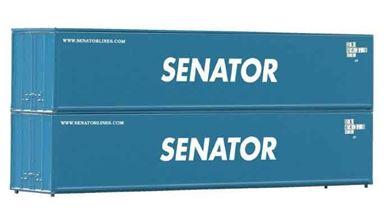PIKO 56240 — 40-футовые контейнеры «SENATOR» (2 шт.), 1:87
