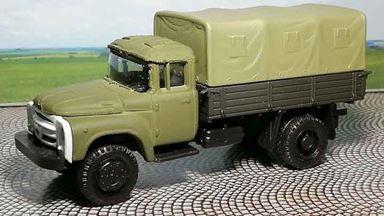RUSAM-ZIL-130-16-110 — Автомобиль ЗИЛ 130 бортовой (съёмный тент) СА, 1:87, 1963—1986, СССР