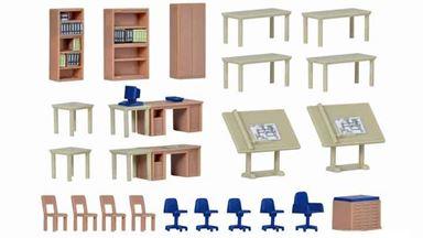 KIBRI 38655 — Набор мебели  и оборудования технического офиса, 1:87